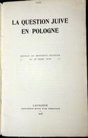 JUDAICA POLOGNE POLAND LA QUESTION JUIVE EN POLGNE 1918 HEBREUX  FONDATION D'ISRAEL BALFOUR - Livres, BD, Revues