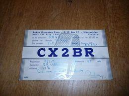 BC10-2-0-2 Carte Radio Amateur Montevideo Uruguay - Radio & TSF