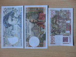 Lot 10 Billets 5F 10F 50F 100F 500F Et 1000F - France