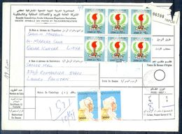 L88- Libya Parcel Receipt Cover Send To Pakistan. 1992 & 1979 Definitive Issue. - Libya
