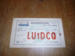 BC10-2-0-2 Carte Radio Amateur Argentina Hope Cuagn Saracco - Radio & TSF