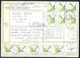 L93- Libya Parcel Receipt Cover Send To Pakistan. 1990 Birds Oiseaux Vögel Aves Eagle Adler. - Libya