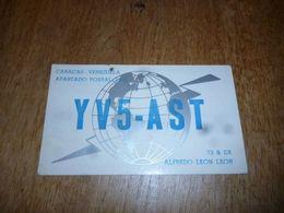 BC10-2-0-2 Carte Radio Amateur Caracas Venezuela Alfredo Leon Leon - Non Classés