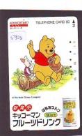 Télécarte Japon / 110-60011 - DISNEY - Ours WINNIE POOH Pot De Miel & COCHON (5928) Japan Phonecard * CINEMA - Disney