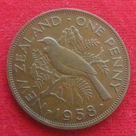 New Zealand 1 Penny 1958 KM# 24.2  Nova Zelandia Nuova Zelanda Nouvelle Zelande - Nouvelle-Zélande