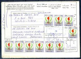 L98- Libya Parcel Receipt Cover Send To Pakistan. 1979 Definitive Issue. - Libya