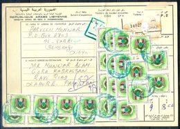 L99- Libya Parcel Receipt Cover Send To Pakistan. 1992 Eagle Ordinary. - Libya