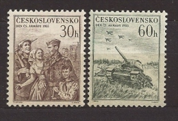Czechoslovakia Tschechoslowakei 1955 MNH ** Mi 939-940 Sc 721-722 Army Day, Tag Der Tschechoslowakischen Armee. - Neufs