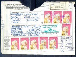 L104- Libya Parcel Receipt Cover Send To Pakistan. 1992 Definitive Col. Khadafy. - Libya