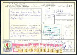 L105- Libya Parcel Receipt Cover Send To Pakistan. 1992 Definitive Col. Khadafy. 1979 Definitive Issue. - Libya