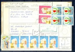 L110- Libya Parcel Receipt Cover Send To Pakistan. 1992 Definitive Col. Khadafy. 1979 Definitive Issue. - Libya