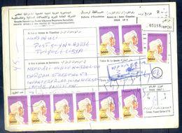 L112- Libya Parcel Receipt Cover Send To Pakistan. 1992 Definitive Col. Khadafy. - Libya