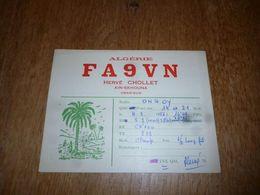 BC10-2-0-2 Carte Radio Amateur  Algérie Ain-Skhouna Oran Sud Hervé Chollet - Radio & TSF
