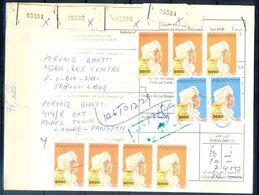 L114- Libya Parcel Receipt Cover Send To Pakistan. 1992 Definitive Col. Khadafy. - Libya