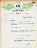 BRUXELLES  Etablissement Daniel Doyen  1949 - Transport
