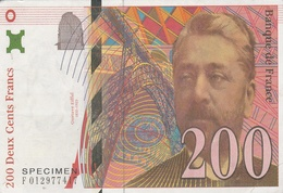CPSM Représentant Un BILLET De BANQUE De 200 Francs - Modèle EIFFEL  //  BE - Coins (pictures)