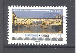 France Autoadhésif Oblitéré (Ponts Et Viaducs : Ponte Vecchio Florence) (cachet Rond) - France