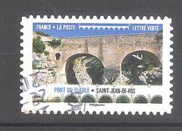 France Autoadhésif Oblitéré (Ponts Et Viaducs : Pont Du Diable St Jean De Fos) (cachet Rond) - France