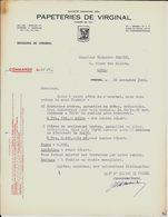 VIRGINAL  Papeteries De Virginal  1949 - Imprimerie & Papeterie