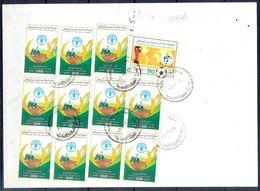 L140- Libya Parcel Receipt Cover Send To Pakistan. 1990 FAO Food Nutrition Agriculture. 1990 Soccer Football FIFA WC Ita - Libya