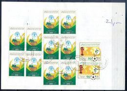 L145- Libya Parcel Receipt Cover Send To Pakistan. 1990 FAO Food Nutrition Agriculture. 1990 Soccer Football FIFA WC Ita - Libya
