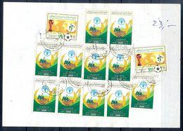 L146- Libya Parcel Receipt Cover Send To Pakistan. 1990 FAO Food Nutrition Agriculture. 1990 Soccer Football FIFA WC Ita - Libya