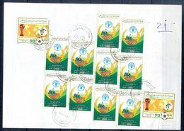 L148- Libya Parcel Receipt Cover Send To Pakistan. 1990 FAO Food Nutrition Agriculture. 1990 Soccer Football FIFA WC Ita - Libya