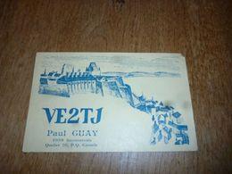 BC10-2-0-2 Carte Radio Amateur Canada Paul Guay Quebec - Non Classés