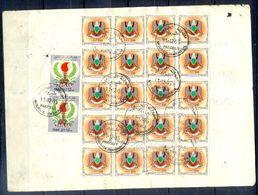 L155- Libya Parcel Receipt Cover Send To Pakistan. 1992 Eagle Ordinary Stamps. - Libya