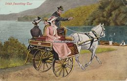 Vintage Postcard;  Irish Jaunting Car - Humour