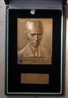 NIKOLA TESLA - Inventions Yugoslavia - AWARD - Bronze Plaque In Casse (BOX) - Andere Geräte