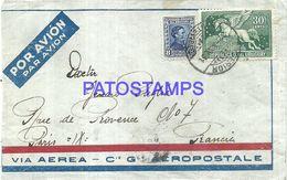 86413 URUGUAY MONTEVIDEO COVER AEROPOSTAL CIRCULATED TO FRANCE NO POSTAL POSTCARD - Uruguay