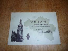 BC10-2-0-2 Carte Radio Amateur Belgique Mons Albert Meunier - Radio & TSF