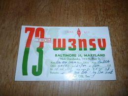 BC10-2-0-2 Carte Radio Amateur Baltimore Maryland USA - Radio & TSF