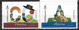 2017 Spanien Mi 5157-8 **MNH    Provinzen: Córdoba Und Asturien - 2011-... Unused Stamps
