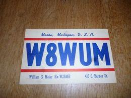 BC10-2-0-3 Carte Radio Amateur USA Mason Michigan - Radio & TSF
