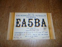 BC10-2-0-3 Carte Radio Amateur Espana Valencia Cachet QSL - Radio & TSF