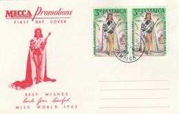 JAMAIQUE   CARTE MAXIMUM  MISS MONDE 1963 - Jamaica (1962-...)