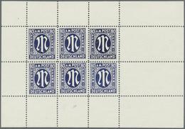 (*) Bizone: 1945, 80 Pfg. Dt. Druck Als Thobe-Fälschung Im Kompletten Kleinbogen Mit 6 Werten, Ohne Gumm - American/British Zone