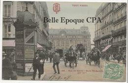 75 - TOUT PARIS 09 - #298 - Rue Du Hâvre - Gare Saint-Lazare ++++ F. Fleury ++++ 1907 ++++ RARE - Distrito: 09