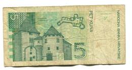 1993 Croatia 5 Kuna Banknote - Croatia