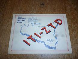 BC10-2-0-3 Carte Radio Amateur Italie Sicile Palermo Russo Benedetto - Radio & TSF