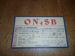 BC10-2-0-3 Carte Radio Amateur Belgique Dampremy A Schockeel - Radio & TSF