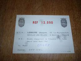 BC10-2-0-3 Carte Radio Amateur France Déville Lez Rouen J Lemaire Timbre QSL - Radio & TSF