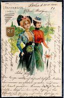MODE - FRANKREICH - PARIS - ELEGANTES - ROBE - ROBES - CHAPEAUX - ILLUSTRATEUR - DOS 1900 - Mode