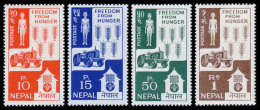 Nepal, 1963, Freedom From Hunger, FAO, United Nations, MNH, Michel 168-171 - Nepal