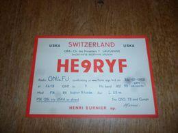BC10-2-0-3 Carte Radio Amateur Switzerland Lausanne Timbre QSL USKA Henri Nurnier - Unclassified