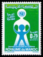 Morocco, 1972, World Children's Day, UNICEF, United Nations, MNH, Michel 718 - Marruecos (1956-...)