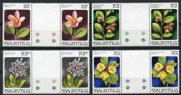 Mauritius, 1981, Flowers, Flora, MNH Gutter Pairs, Michel 507-510 - Maurice (1968-...)