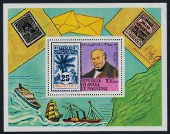 Mauritania, 1979, Rowland Hill, UPU, Boats, Ships, MNH, Michel Block 24 - Mauritania (1960-...)